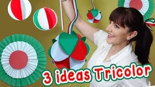 3 Ideas Tricolor Decorativas estilo Mexicano :: Chuladas Creativas :: Esferas de papel