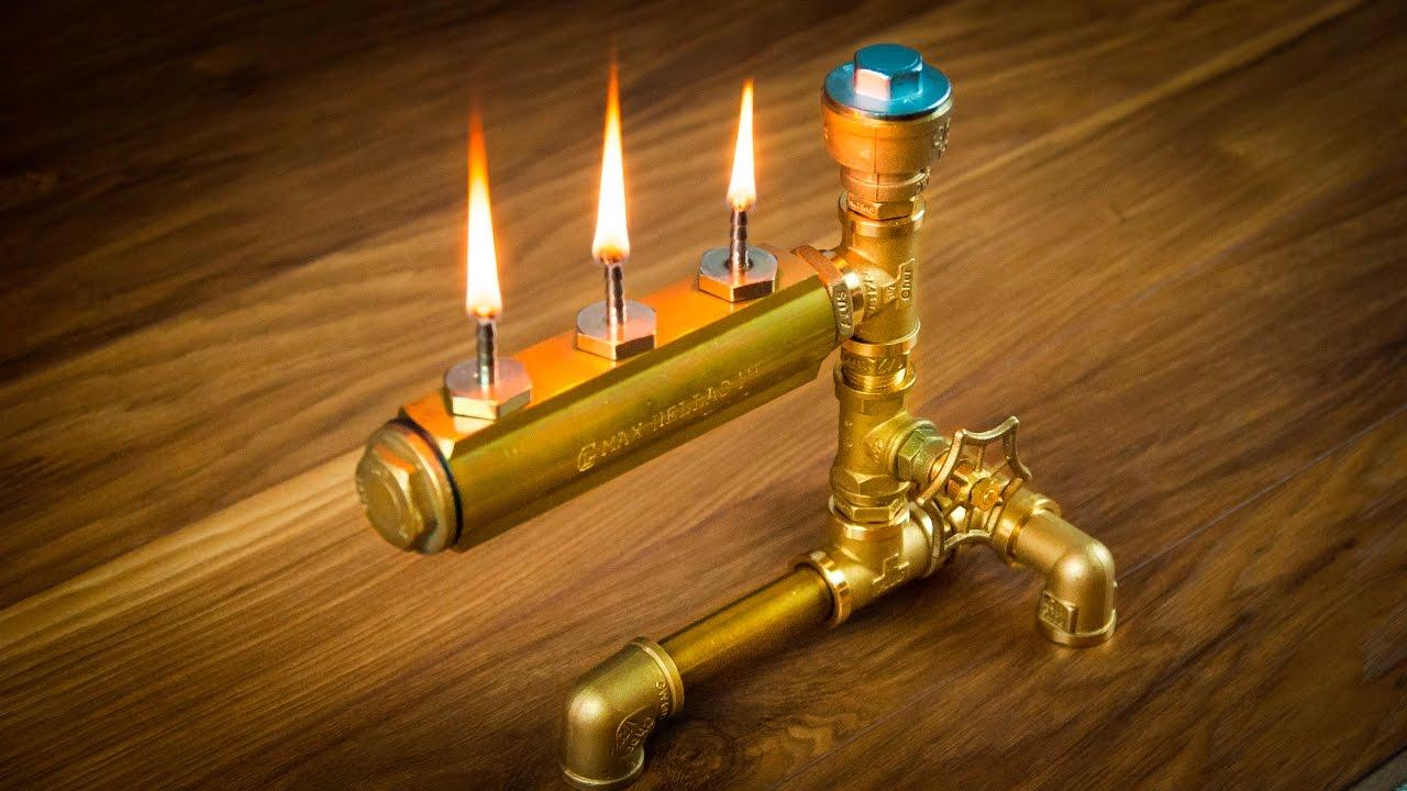 DIY Steampunk Industrial Pipe Oil Lamp - YouTube