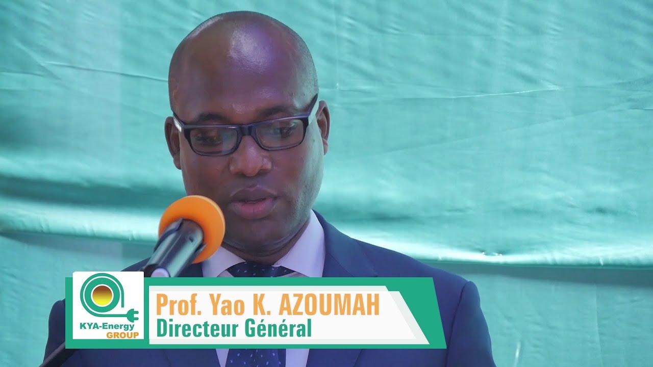 Lancement de KYA-SolDesign - Discours du DG/CEO de KYA-Energy Group