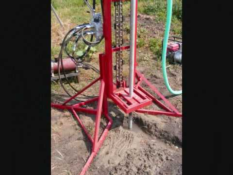 Water well drilling rig part1 - Instalatie forat puturi de apa