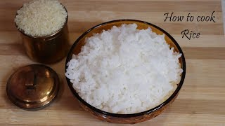 How to cook rice   How to cook rice without starch