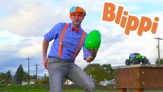 Blippi Learns Colors On A Egg Hunt   Educational Videos For Kids