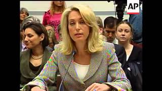 Four years after her identity was leaked, former CIA operative Valerie Plame appears on Capitol Hill