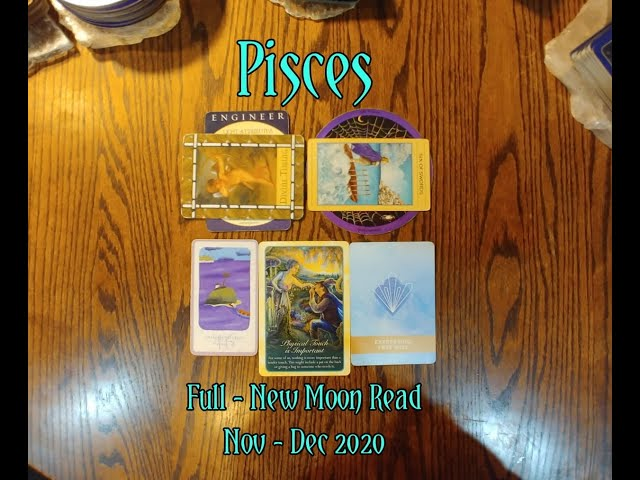 PISCES: FULL - NEW MOON 7 CARD DRAW=DIVINE TIMING+PHYSICAL TOUCH+EXPRESSING FREE WILL + NOV-DEC 2020