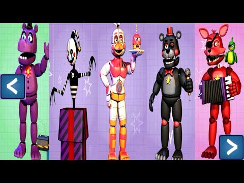 Five Nights at Freddy's 6 EXTRAS (All Animatronics UNLOCKED)