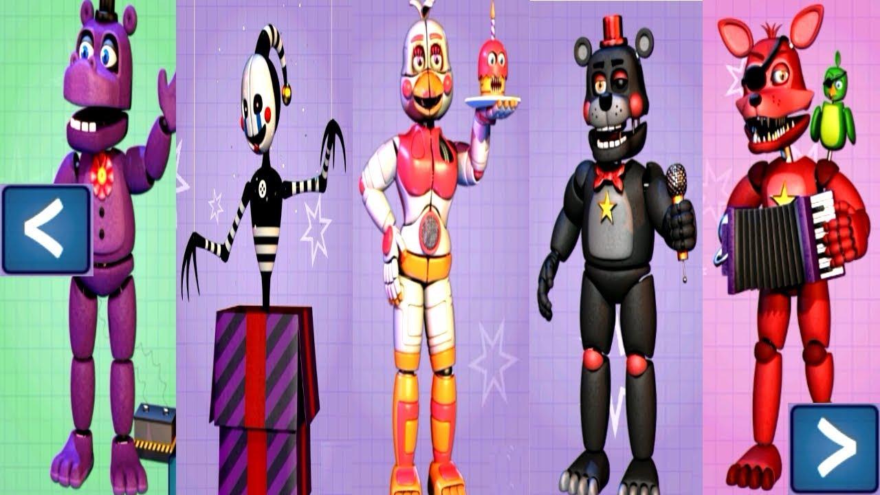 Five Nights At Freddy S 6 Extras All Animatronics Unlocked Youtube