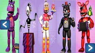 - Five Nights at Freddy s 6 EXTRAS All Animatronics UNLOCKED