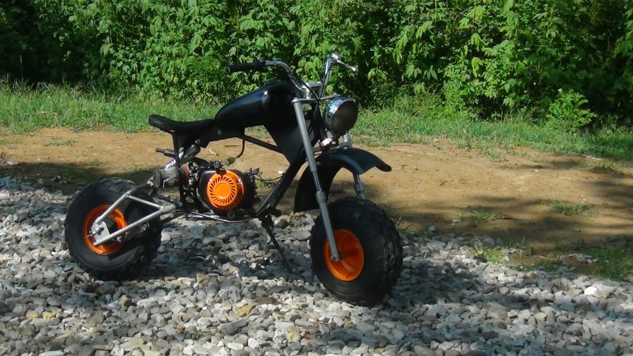 CUSTOM STRETCHED BAJA MONOSHOCK MINI BIKE BUILD by gotterbuiltboxlox1