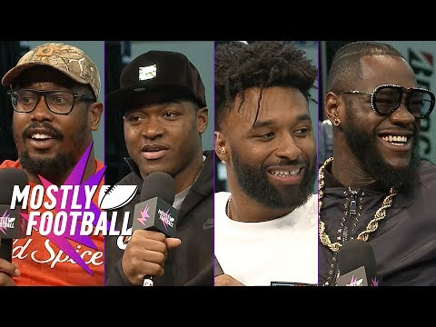 Von Miller, Amari Cooper, Jarvis Landry and Deontay Wilder Join Our SBLIII Special | Mostly Football