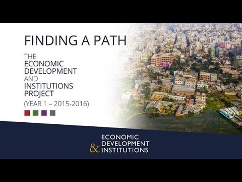 An overview of the Economic Development and Institutions (EDI) research programme: year 1