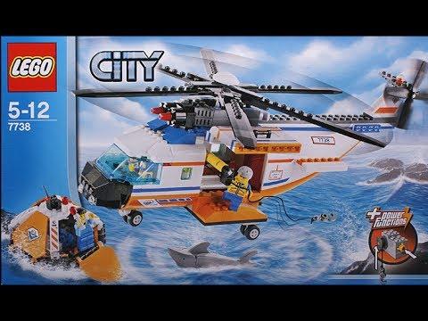 Lego 7738 Coast Guard Helicopter Life Raft Youtube