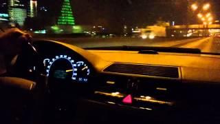 Девушка за рулем Mercedes-Benz S600 230 км/ч