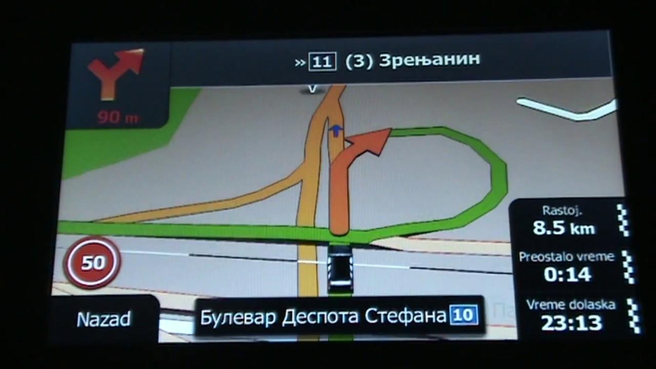 Gps Xgody 886 Igo Mapa 2017 Simulacija Centar Beograd
