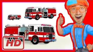 Compilation of Blippi Toys Videos | Fire Trucks and more!