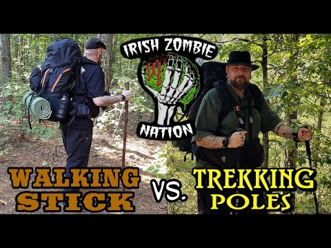 Walking Stick vs. Trekking Poles - Which Is Right For You?  Pros and Cons