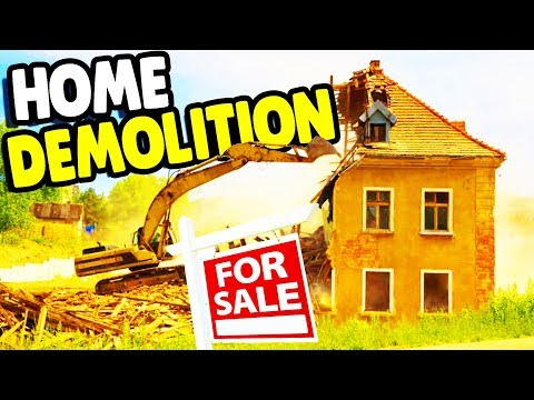 I DESTROYED my HOUSE & Building CUSTOM MANSION | House Flipper Gameplay