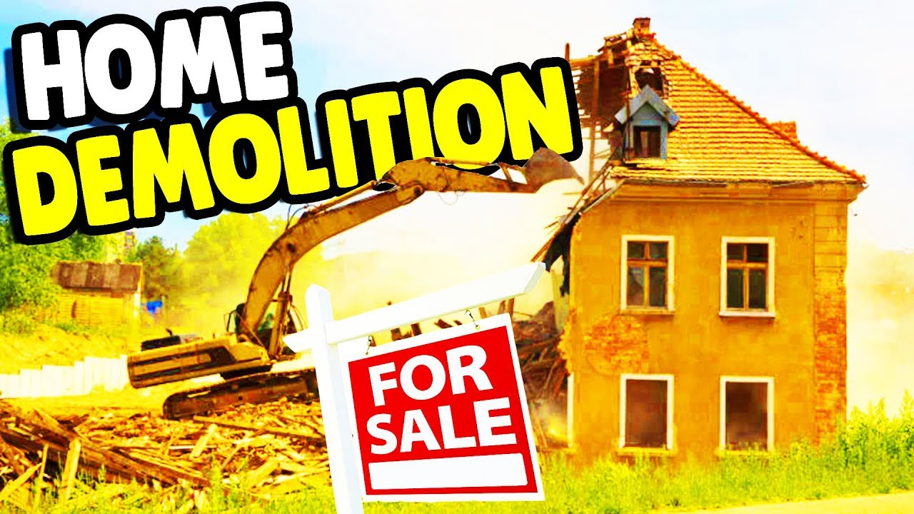 I DESTROYED my HOUSE & Building CUSTOM MANSION | House Flipper ...