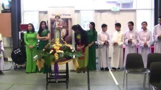 rước kiệu kính mừng Mẹ LaVang 2