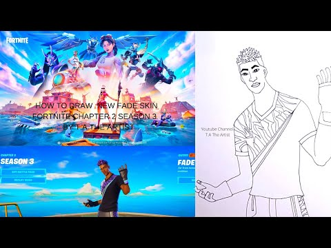 How To Draw New Fade Battle Pass Skin Fortnite Chapter 2 Season 3 Youtube