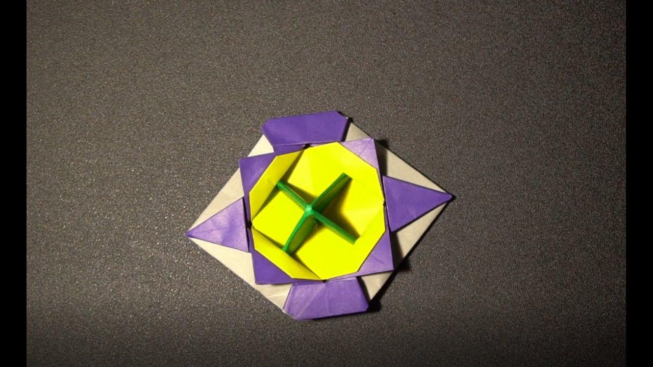 折り紙で尖ったコマを折ってみた4