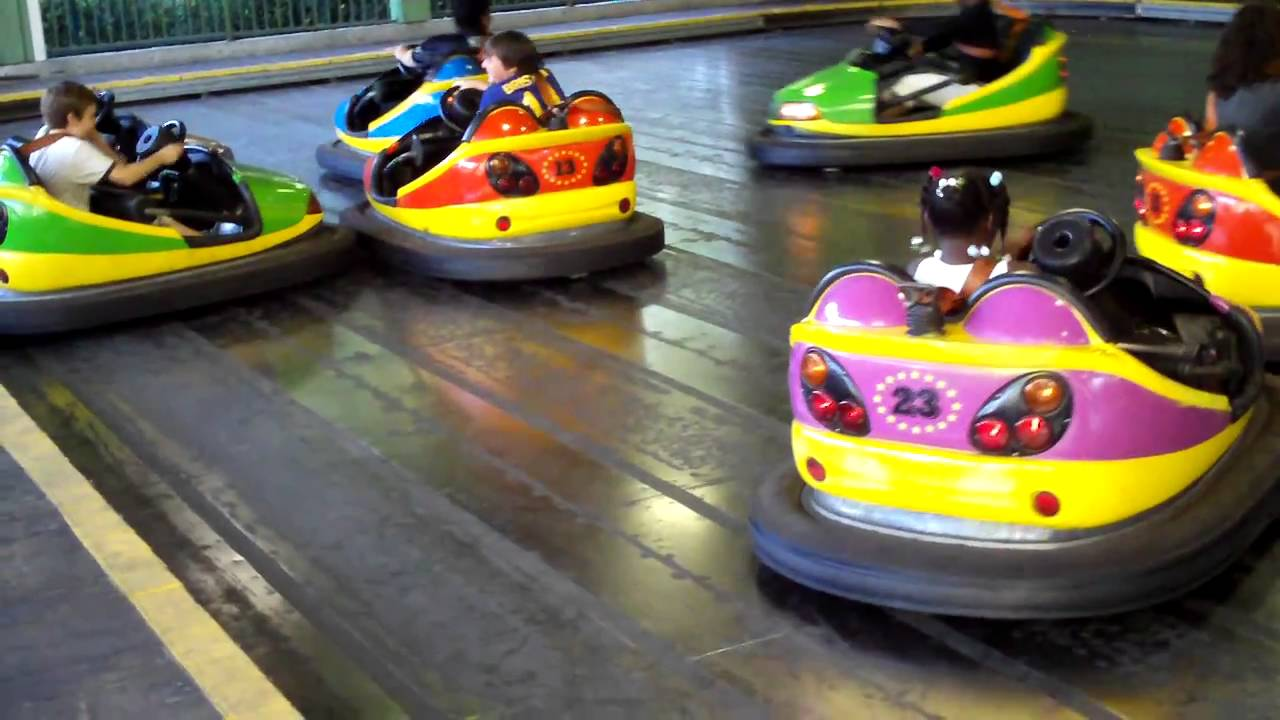 six flags bumper cars youtube