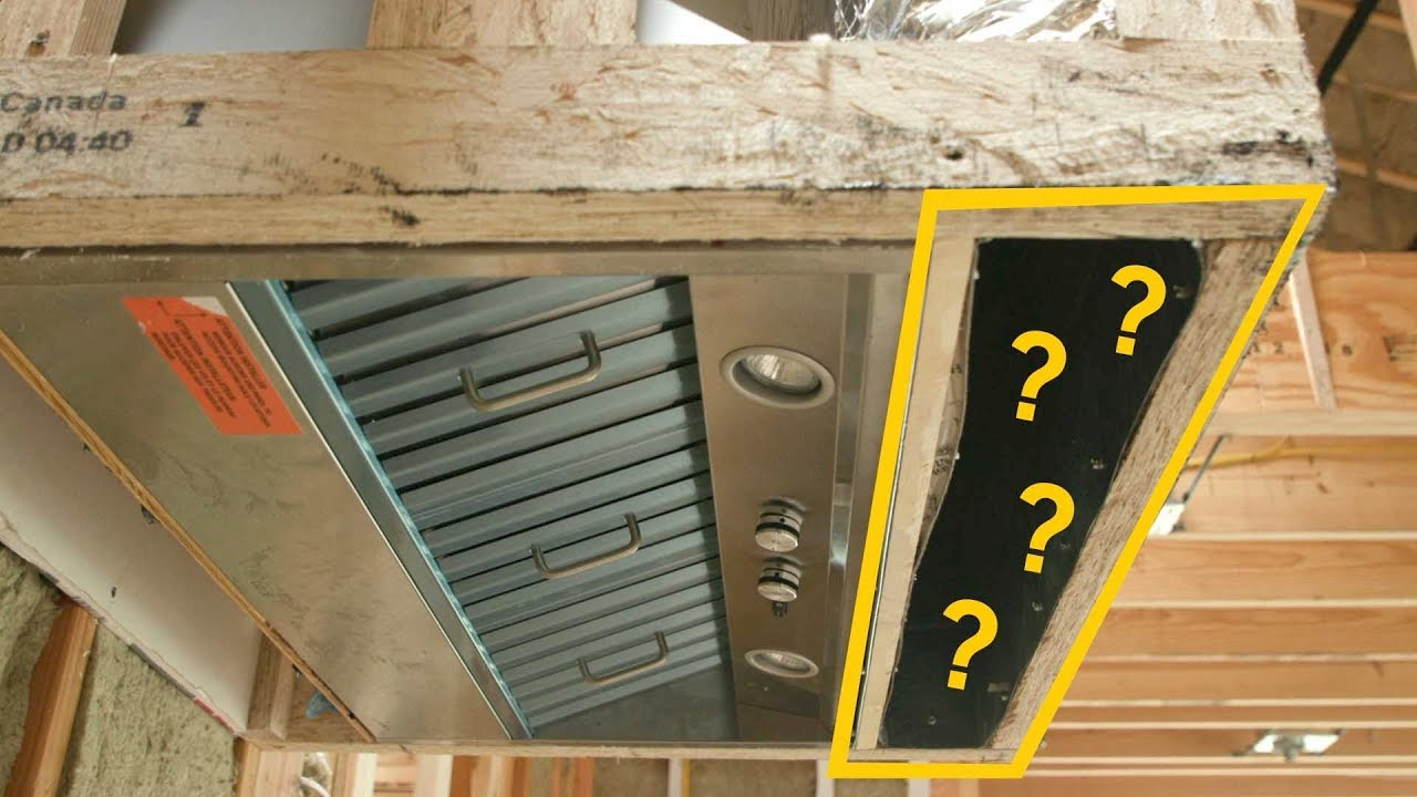 Make Up Air Kitchen Hood In A Tight New Build Youtube