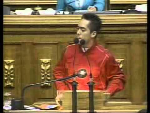 Robert Serra en cadena nacional, 7 de junio de 2007, debate estudiantil con opositores