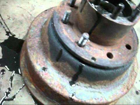 changing dodge 350 brake drums  YouTube