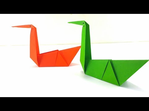 Origami Tutorial - How to fold an Easy Origami Swan