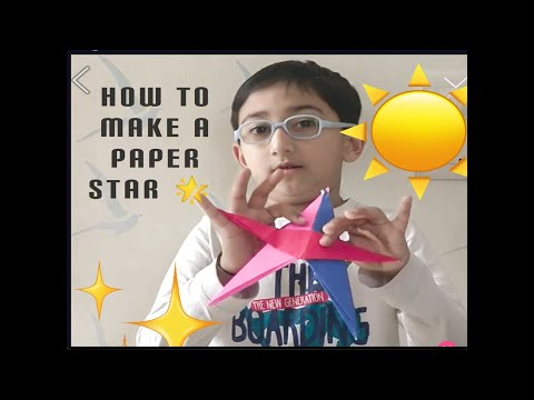 How to Make Paper Star?/DIY Paper Activity/Simple & Easy Paper Star/ Origami Paper Star tutorial