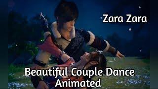 Beautiful Couple Dance Animated Video WhatsApp Status   Zara Zara