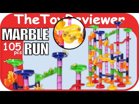 FUNTOK 105pcs Marble Run Railway Construction Building Blocks Unboxing Toy Review By TheToyReviewer