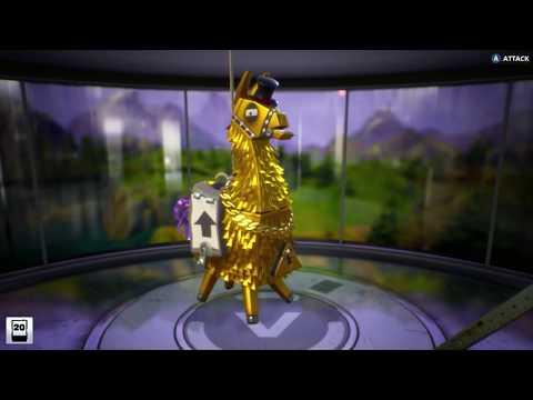 "FORTNITE LIMITED EDITION EXCLUSIVE LEGENDARY LOOT ""Gold Llama"" Schematics HEROES Defenders Survivors"