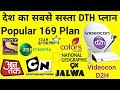 Videocon d2h 169 pack plan - Videocon d2h 169 pack channel list