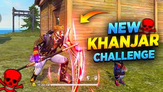 New Melee Weapon (Khanjar) Challenge in Free Fire || Desi Gamers