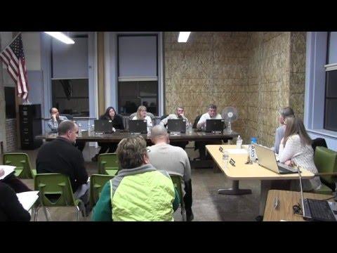 Lake County School District #7 board meeting 2-08-2016