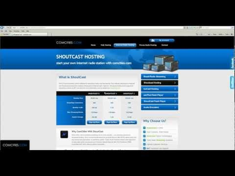 start online radio with shoutcast server - comcities.com shoutcast hosting and icecast hosting