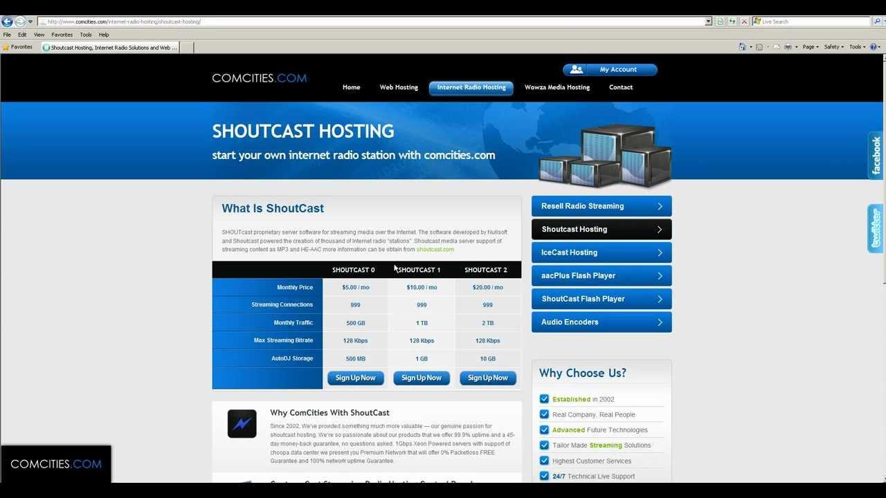 Бесплатный радио icecast хостинг бесплатный хостинг с конструктором в украине