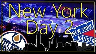 New York Day 2 Vlog | NHL Store | NHL Spiel Rangers vs. Oilers | Madison Square Garden