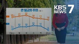 [날씨] 내일도 큰 일교차 주의…아침까지 짙은 안개 / KBS뉴스(News)