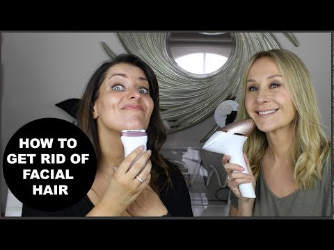 HOW TO GET RID OF FACIAL HAIR - NADINE BAGGOTT