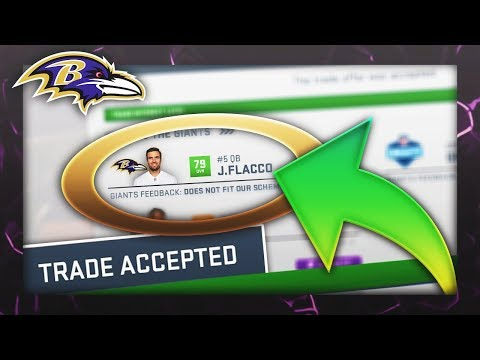 BALTIMORE RAVENS TRADE JOE FLACCO! Madden 19  Franchise ep. 1