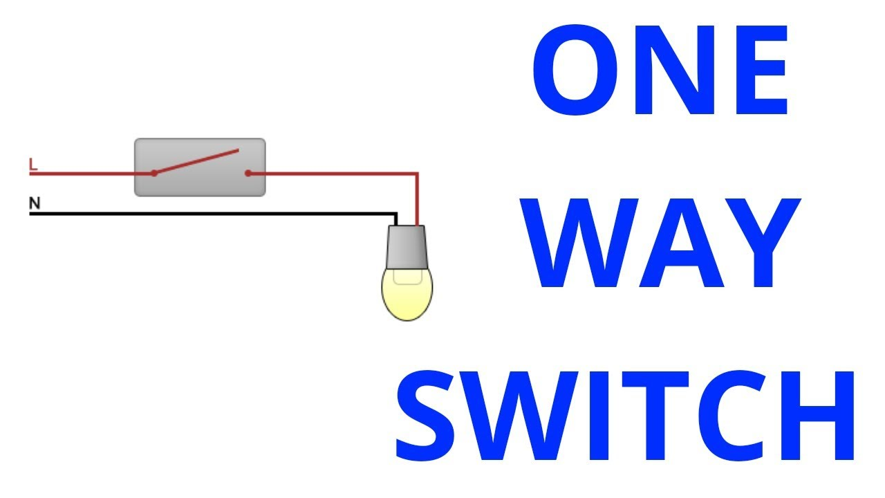 hight resolution of one way switch diagram