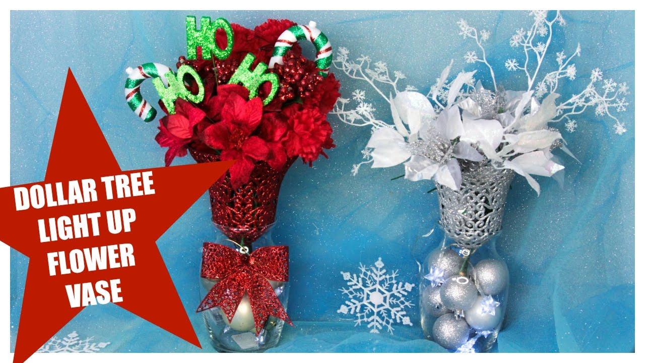 Dollar tree christmas light up flower vase diy youtube dollar tree christmas light up flower vase diy reviewsmspy