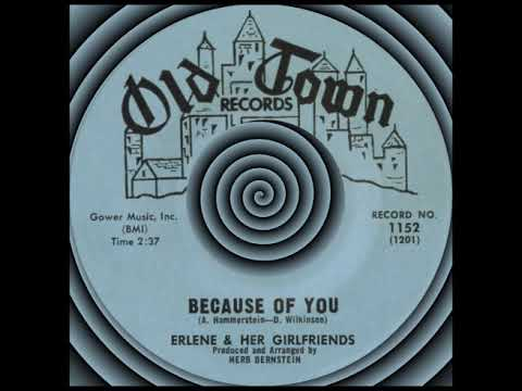 BECAUSE OF YOU, Erlene & Her Girlfriends, Old Town #1152  1963