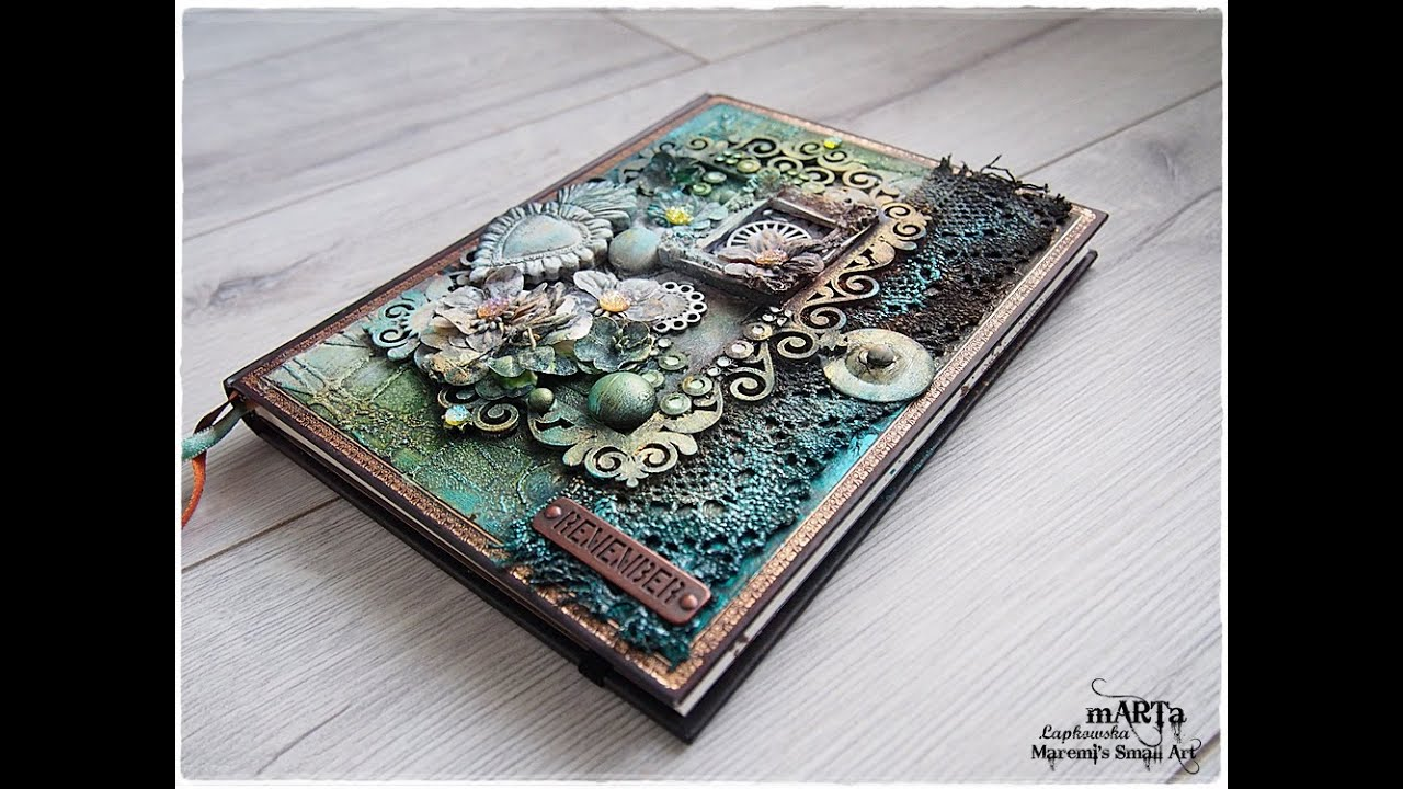 Mixed Media Journal Cover Tutorial - YouTube