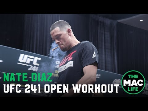 The Stansbury Show - Nate Diaz Smokes Joint During Workout