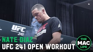 Nate Diaz smokes a joint for his open workout | UFC 241 Open Workout