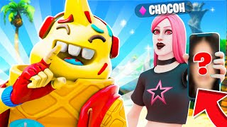 CHOCOH MONTRE SON VISAGE si JE GAGNE !! (Fortnite Saison 6)