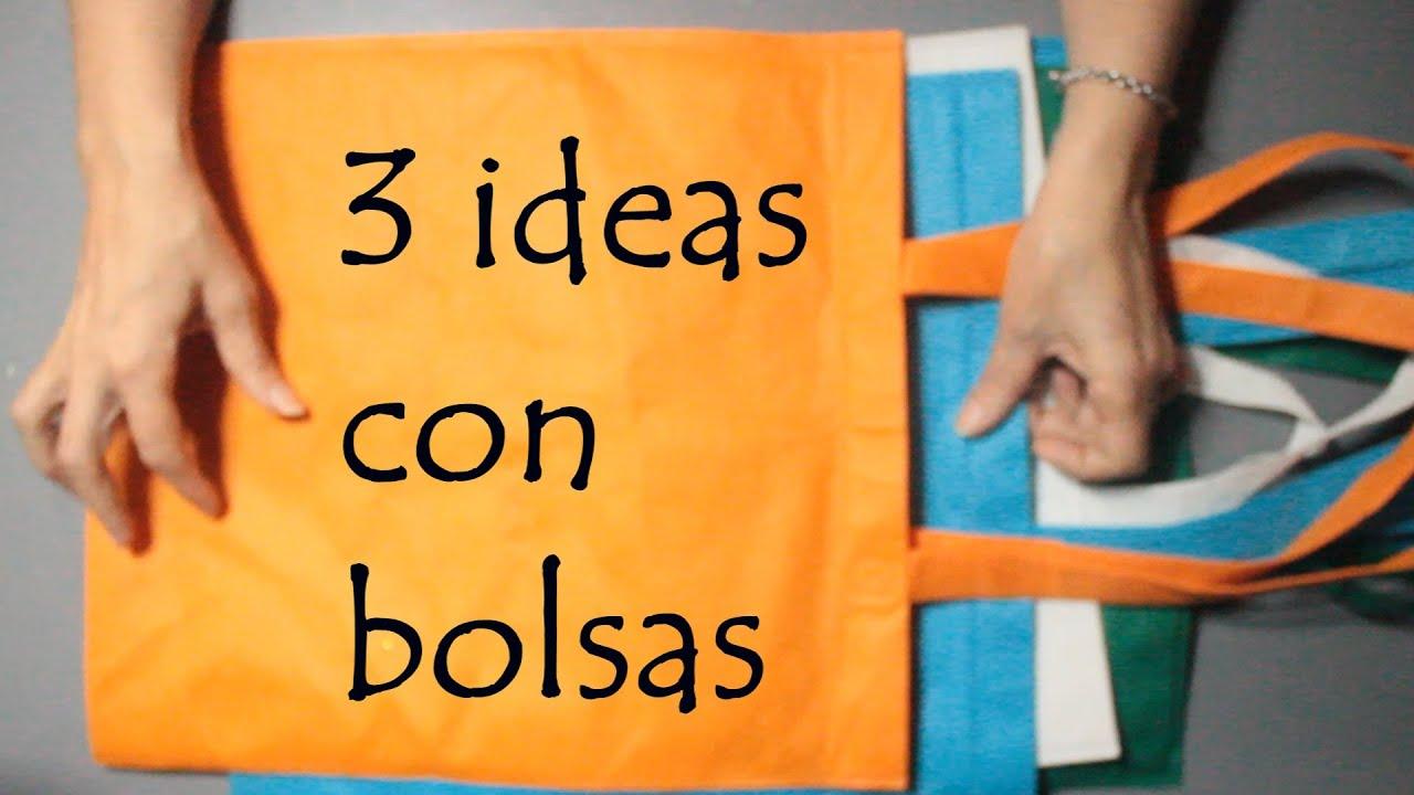 ♻ 3 MANUALIDADES  para VENDER, GANAR DINERO y AHORRAR con BOLSAS!!🌼 Ideas de RECICLAJE 💕Arte en casa